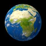 l'Afrique sur le globe Photographie stock libre de droits