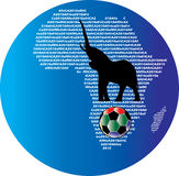 l'Afrique WorldCup 2010 illustration de vecteur