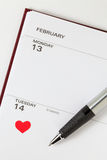 L'agenda de Valentine Photographie stock