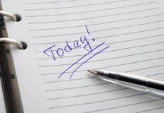 L'agenda ouvert photo libre de droits