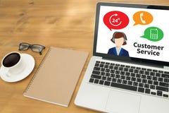 L'agent Care de centre de SERVICE CLIENT et d'appel de service clients Photos libres de droits