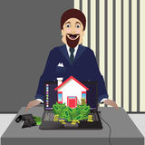 L'agente immobiliare Bene immobile da vendere Fotografia Stock