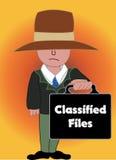 L'agente segreto royalty illustrazione gratis