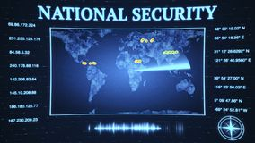L'agenzia di sicurezza nazionale di governo si fende giù sul virtu del bitcoin Fotografie Stock Libere da Diritti