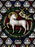 L'agneau de Dieu en verre souillé Photographie stock libre de droits