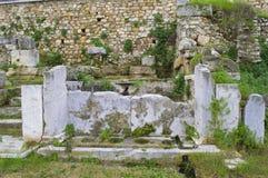 L'agora de Romains d'Athènes Images libres de droits