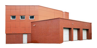 L'agricolo nessun garage e wareho del mattone di fabbricazione in serie di nome Fotografia Stock Libera da Diritti