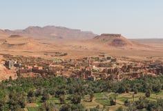L'agricoltura alla collina pedemontana nella città di Tinghir, Marocco Fotografia Stock