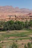 L'agricoltura alla collina pedemontana nella città di Tinghir, Marocco Immagine Stock Libera da Diritti
