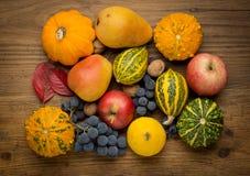 L'agricoltura ha raccolto i prodotti su di legno Fotografie Stock