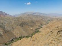 L'agricoltura lungo la valle sull'atlante nel Marocco Immagine Stock
