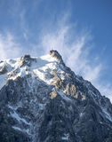 L'Aguille du Midi,. L'Aguille du Midi view from Chamonix Royalty Free Stock Photo
