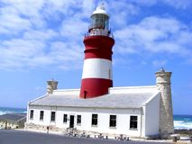 L'Agulhas lighthouse Royalty Free Stock Photos