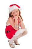 L'aide de petite Santa Photo stock