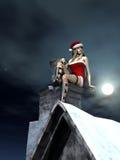 L'aide de Santaâs fait une pause Images stock