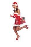 L'aide sexy de Santa photographie stock libre de droits