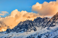L ` Aiguille du Plan - las montañas francesas Imagen de archivo