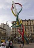 L'aiguille, le fil et le noeud publics d'illustration Images stock