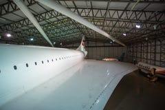 L'aile d'une Concorde britannique photos libres de droits