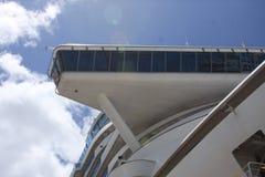 L'aile de pont sur le bateau de croisière Photographie stock libre de droits