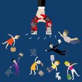 L'aimant attire des instruments de main et des clients satisfaisants Images libres de droits