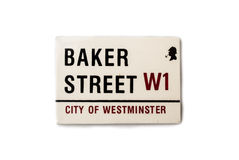 L'aimant de souvenir - la plaque de rue de Baker Images libres de droits