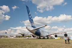 l'Airbus A380 Photo stock