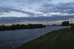 L'Aire e Calder Canal ispezionati bacino idrico fotografia stock