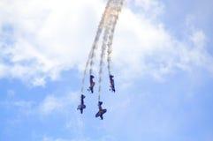 L'airshow de taureaux de vol Images stock