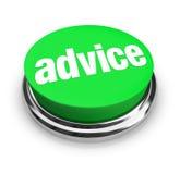 L'aiuto del pulsante di parola di consiglio fornisce di punta le informazioni di assistenza di sostegno Immagine Stock Libera da Diritti