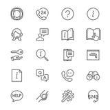 L'aiuto ed il supporto assottigliano le icone Immagine Stock Libera da Diritti