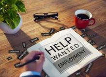 L'aiuto ha voluto l'occupazione Job Hiring Concept Fotografia Stock