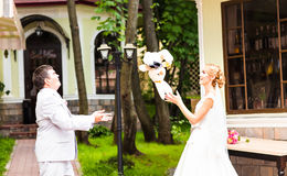 L'ajouter de mariage au mariage joue, des lapins, lapins Image stock