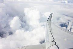 L'ala dell'aereo Immagini Stock