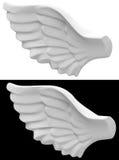 L'ala di angelo Fotografia Stock