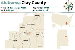 L'Alabama : Clay County Images stock