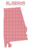 L'Alabama Dot Map illustration de vecteur