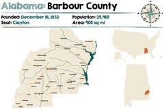 L'Alabama : Le comté de Barbour Image libre de droits