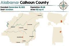 L'Alabama : Le comté de Calhoun illustration stock
