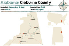 L'Alabama : Le comté de Cleburne illustration libre de droits
