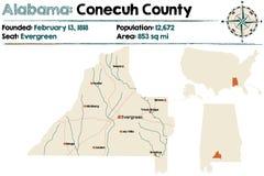 L'Alabama : Le comté de Conecuh illustration stock