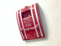 L'alarme d'incendie de commutateur Photos stock