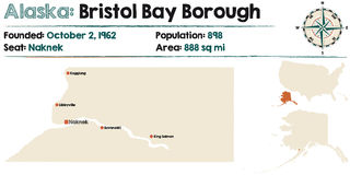 L'Alaska : Bristol Bay Borough Images libres de droits