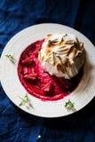 L'Alaska cuit au four fait par maison Images libres de droits