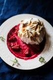 L'Alaska cuit au four fait par maison photo libre de droits
