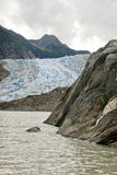 L'Alaska - Davidson Glacier Fotografie Stock Libere da Diritti