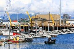 L'Alaska - porto della barca dello sputo di Omero Fotografia Stock Libera da Diritti