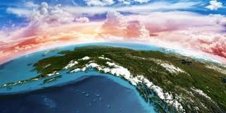 l'alaska rendu 3d Photos stock