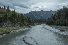 L'Alaska Salmon Fishing Photo stock
