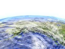 L'Alaska sur le modèle réaliste de la terre Photos stock